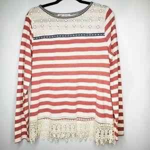 Jolt Long Sleeve Stripe Top Size XL